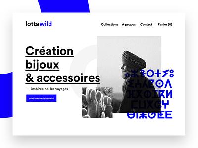 lottawild bleu noir web bijoux design website