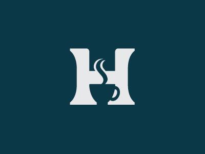 Head Start logo coffee cup steam negative space h serif