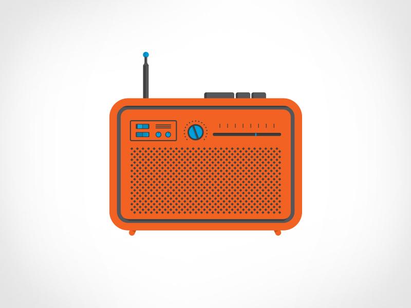 Radio radio speaker dial button switch antenna