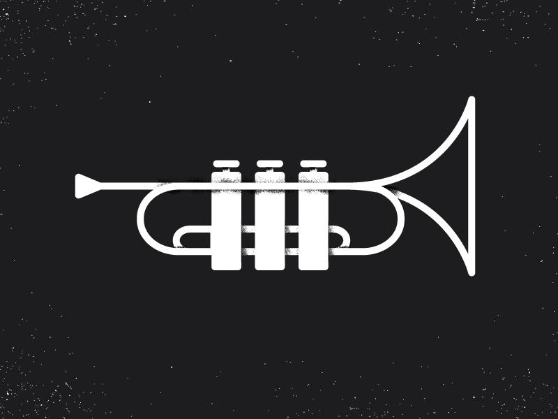 TOOT horn trumpet illustration texture line shadow