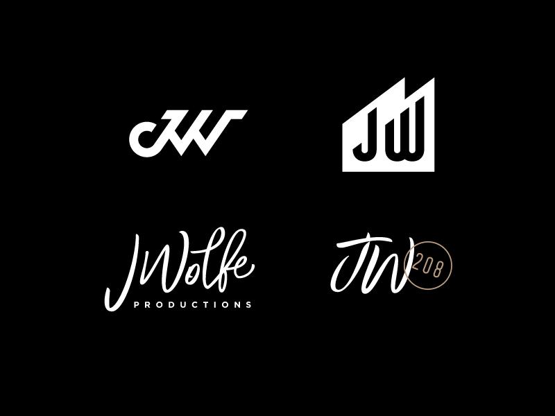 JWolfe Branding industrial lettering type photography logo monogram w j