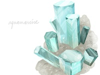 Lindsaynohl Aquamarine Crystal Dribbble