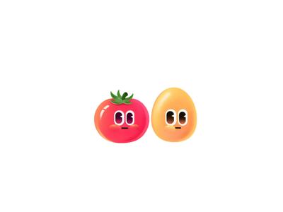 火花Chat-互动表情2 star moon fish duck doubt fire angry egg tomato gif animation design color colour drawing illustration