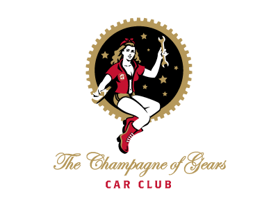 The Champagne of Gears high life car club logo