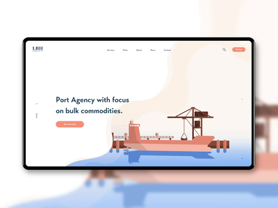 Ship Ahoy, Dribbble! vector ux ui shipping illustration container boat animation