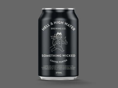 Something Wicked Porter beer branding fmcg graphic design packaging porter craft beer beer