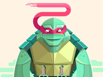 Raph ninja turtle rapheal illustration vector color teenage