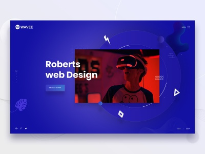 Wavee - Creative Portfolio portfolio web landing page web design ridoy rock web user interface minimal ui ux clean