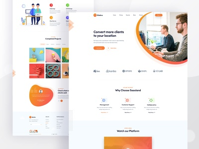 Makro - Agency Landing Page website corporate agency landing page agency website agency web design design web page creative user interface web landing page ux clean