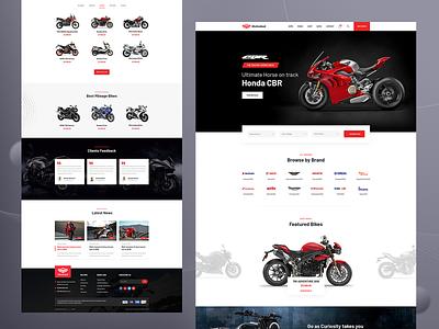 Motodeal Bike Dealership Website web landing page website biker ridoy motodeal vehicle dealership motorsport motorcycle motorbike motor web page ridoy rock web user interface landing page ui ux