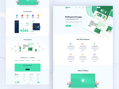 Software Landing Page website cool software app landing web design web page web landing page minimal user interface web ui landing page clean ux