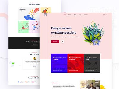 Niro - Creative Portfolio portfolio agency wordpress niro design ui creative web landing page ridoy rock web design user interface landing page ux