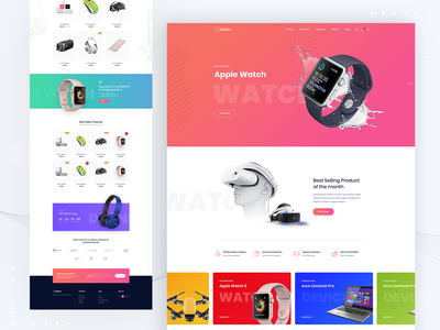 Saasland - Electro Ecommerce Website wordpress development ridoy droitthemes droitlab theme wordpress theme saasland saasland portfolio web page website ridoy rock web web design user interface ui ux landing page