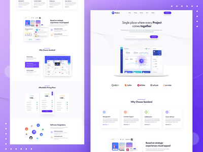 Project Management Software Landing Page illustration portfolio web page web landing page creative ridoy rock web user interface landing page ui ux