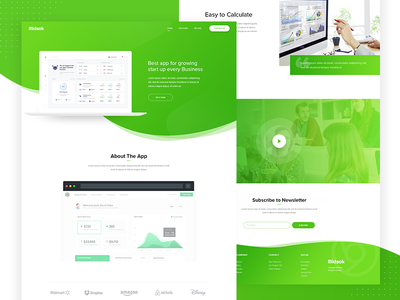 Start up Business App Landing Page web page web user interface user experience unique shams minimal landing page clean