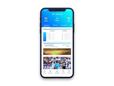 NFL Live Score live score sports app sports ux ui iphone x app