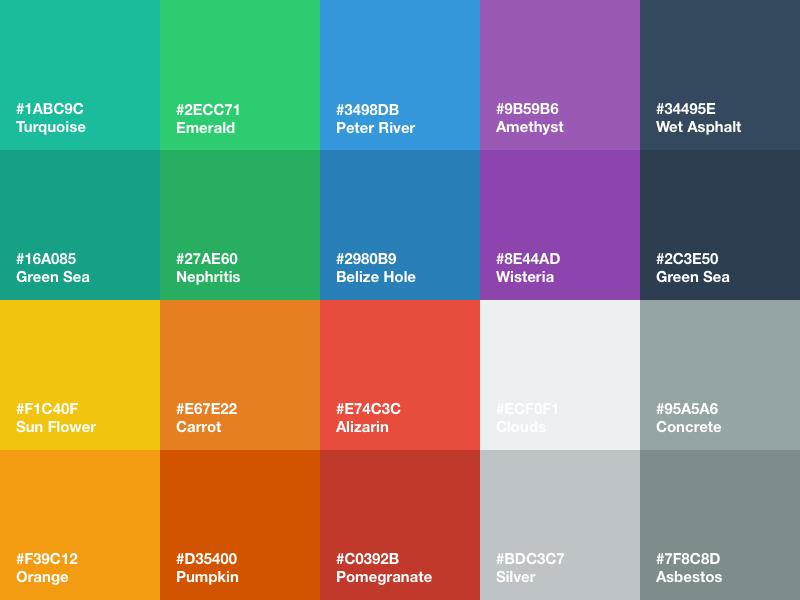 Flat UI Color Palette for Sketch flat ui color palette sketch sketch app freebie download