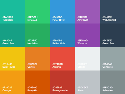 Flat UI Color Palette for Sketch flat ui color palette sketch sketch app freebie download