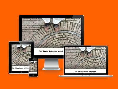 huphtur.nl personal blog website design responsive mobile ipad iphone orange github jekyll