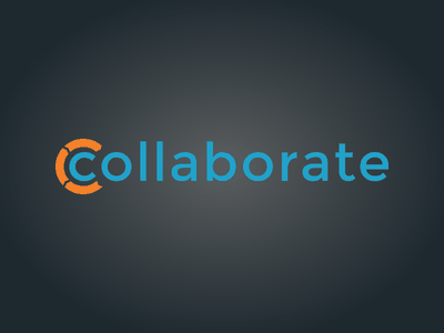Collaborate Logo logo collaborate orange blue gradient case management