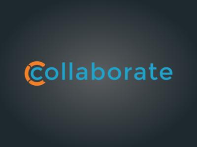 Collaborate Logo logo collaborate orange blue gradient case management
