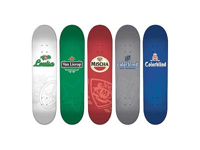 Colorblind Skateboards Beer Series oranjeboom hoegaarden beer amstel mischa zwaan heineken kaspar van lierop grolsch louisa menke skateboards colorblind