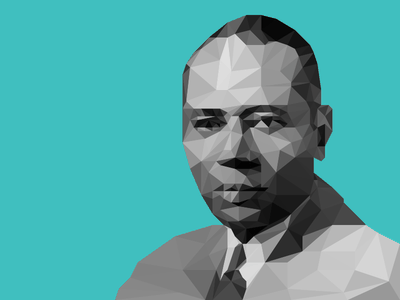 Low Poly Charles Houston affinity affinity designer charles houston portrait polygon lowpoly low poly