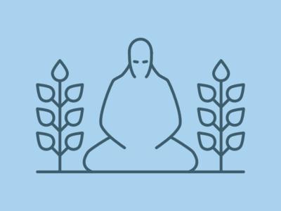 Garden Ninja illustration affinity designer download zen meditation ninja garden