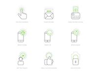 Ecommerce line icon set