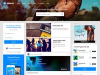 Homepage on Shazam.com (inc. News Feed)