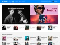 Playlists Homepage on Shazam.com