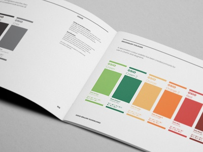 Osio Colour Guidelines graphic design design branding brand identity logotype brand guidelines layout brand book standards style guides colour guide