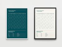 2017 Calendar Graphic Design Prints