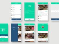 Tipsy - Mobile App Designs