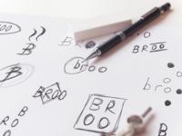 Broo - Logo Design - Sketching