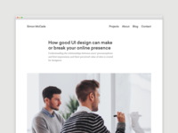 Blog - How good UI design can make or break your online presence