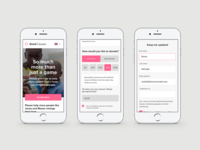 Good Causes Charity Mobile Website Design