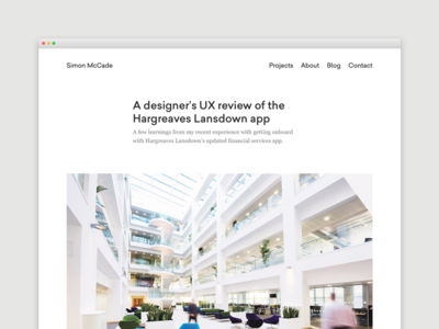 Blog - A designer's UX review of the Hargreaves Lansdown app