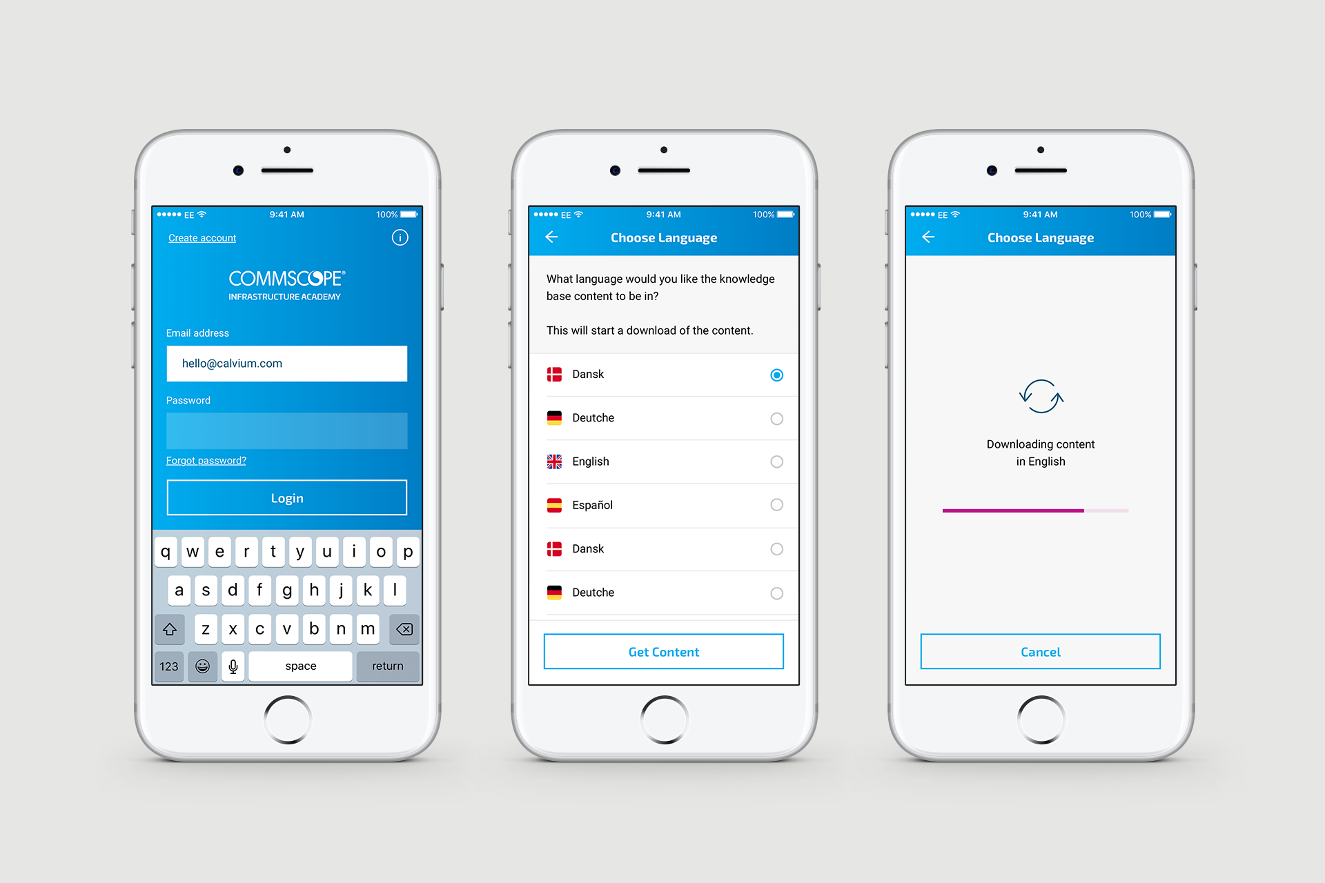 Cabling science   commscope academy app design onboarding