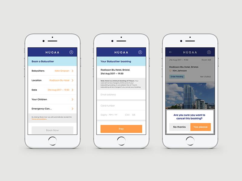 Hugaa mobile website application