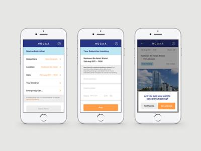 Hugaa - Mobile App Design