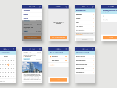 Hugaa - Mobile Web App Designs app design art direction ui design mobile app user interface