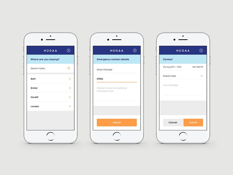 Hugaa website app