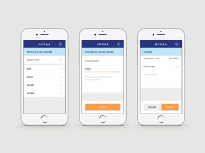 Hugaa - Website App Design app design art direction ui design mobile app user interface