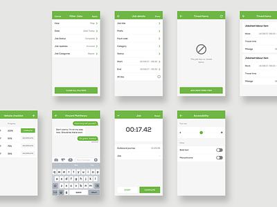 Clik Jobs - App Design user interface user experience mobile app ui design art direction app design