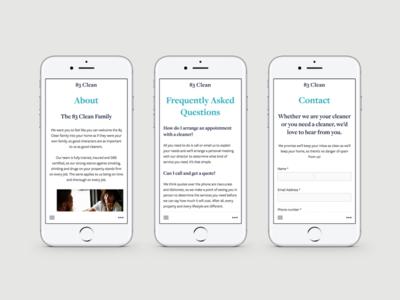 83 Clean - Mobile Design art direction ui design website design branding clean simple elegant creative modern
