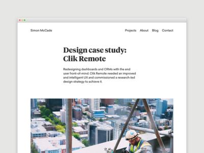 Blog - Design case study: Clik Remote