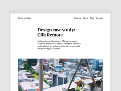 Blog - Design case study: Clik Remote case study user experience ux creative website blogging portfolio design freelance designer blog