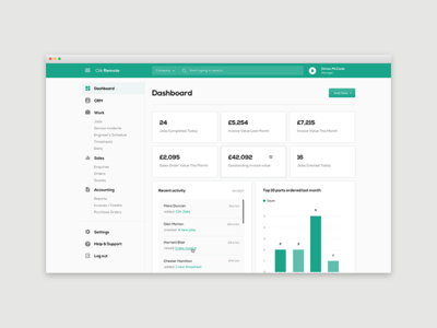Clik Remote  - Web App Design