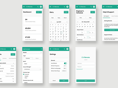 Clik Remote - Mobile Designs mobile art direction user experience dashboard user interface ui design app design web app website application